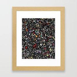 Assorted shapes Framed Art Print