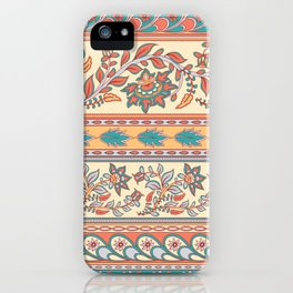 Decorative borders. Indian style. Kalamkari. iPhone Case