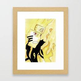 Naruto Watercolor Framed Art Print