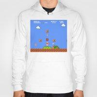 mario bros Hoodies featuring Super Mario Bros by Trash Apparel
