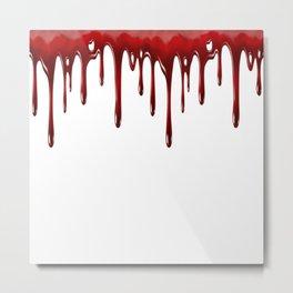 Blood Dripping White Metal Print