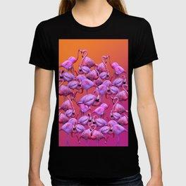 Flamingos Sunrise T-shirt