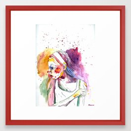 Over My Shoulder #2 Framed Art Print