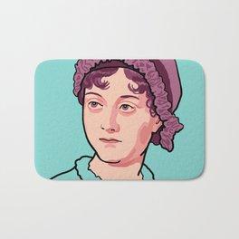 Jane Austen Portrait Blue Purple Bath Mat