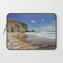 Barronal beach. Waves retro Laptop Sleeve