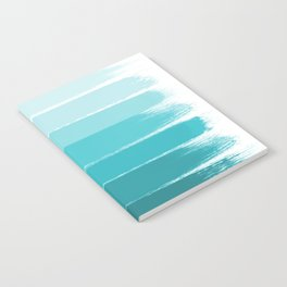 Sapote - painted abstract brushstrokes ombre blue colorful bright coastal decor dorm college Notebook