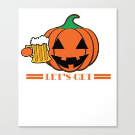 Funny & Cool Halloween Costume Tee Let s get smashed Canvas Print