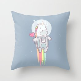 Space Unicorn! Throw Pillow