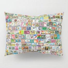 Soccer Stamps Pillow Sham