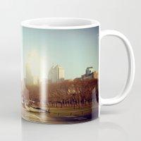 philadelphia Mugs featuring Philadelphia  by Kameron Elisabeth