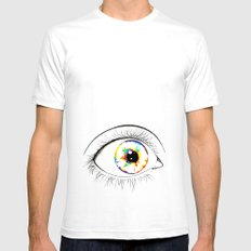 Surprise   White SMALL Mens Fitted Tee