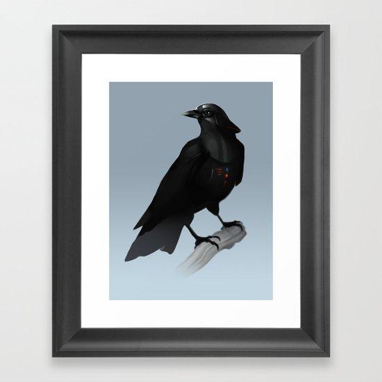 Crow Vader Framed Art Print