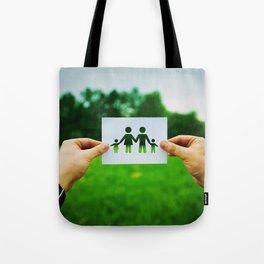 holding family symbol Tote Bag