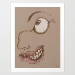 Smile of a stranger Art Print