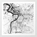 Antwerp Map Gray by hubertroguski