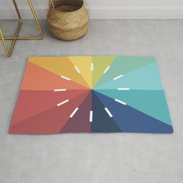 Modern Color Wheel Rug