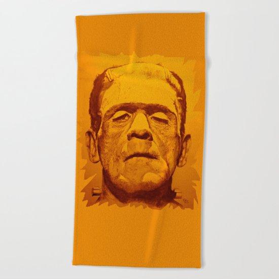 The creature - orange Beach Towel