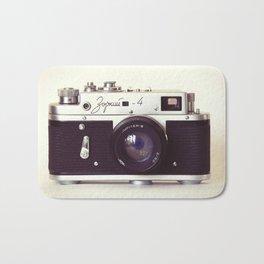 Zorki vintage camera Bath Mat