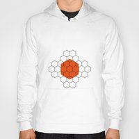 hexagon Hoodies featuring HEXAGON by KARNATARKA