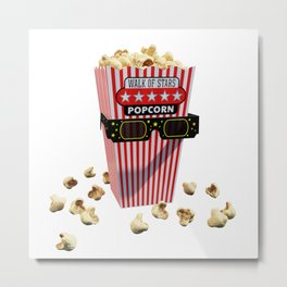 Buttered Popcorn and 3D Movie glasses Metal Print