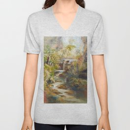 The mystery of the Gorge Unisex V-Neck