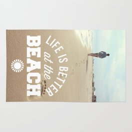 Better At The Beach Quote Rug