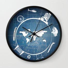 Global Engineering Wall Clock