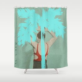 Plam Shower Curtain