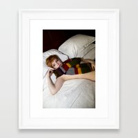 dr who Framed Art Prints featuring Dr. Who? by Happy Robot