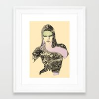 megan lara Framed Art Prints featuring Lara by hyperpattern