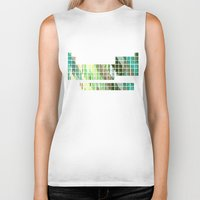 periodic table Biker Tanks featuring Periodic Table, Pixilated Color Blocks by kltj11