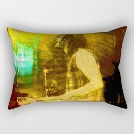 playing opium drums Rectangular Pillow