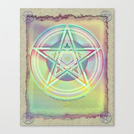 Rainbow Ghosted Pentacle Canvas Print