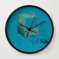 video game Wall Clocks featuring Old Video Game Console by ellygeh | Elly Medeiros