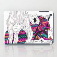 wolf iPad Cases featuring ▲SHE-WOLF▲ by Kris Tate
