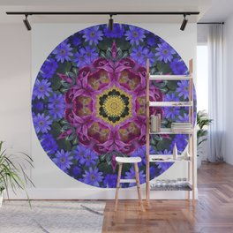 Floral finery - vivid kaleidoscope 20170321_135334 e k1 Wall Mural