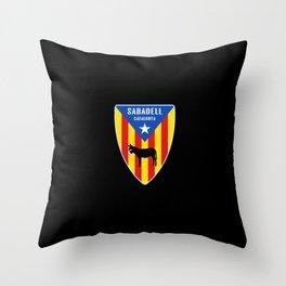 Sabadell Catalunya Estelada Throw Pillow