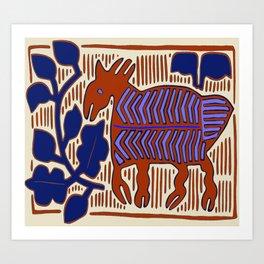 San Blas Island Deer Art Print