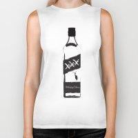 whiskey Biker Tanks featuring Whiskey Diver by Luke Brogoitti