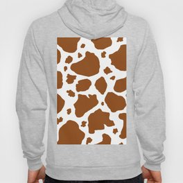cocoa milk chocolate brown and white cow spots animal print Hoody