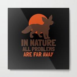 Fox Saying Nature Cute Metal Print
