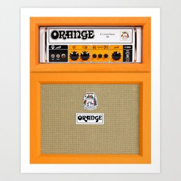 Bright Orange color amplifier amp Art Print