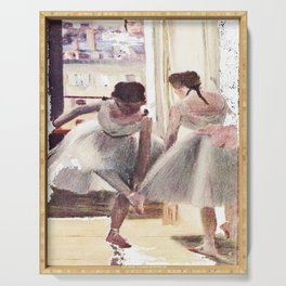 DEGAS DANCERS GREY AND PINK Serving Tray