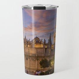 Seville, The Cathedral at dusk Travel Mug
