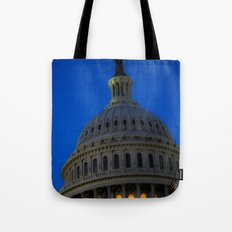 Evening behind the dome Tote Bag