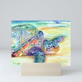 Rainbow Sea Turtle 2 Mini Art Print