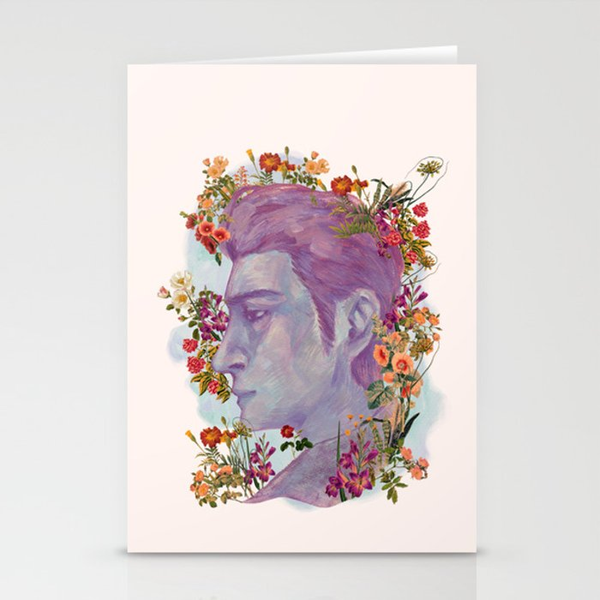 STURDMAN WITH FLOWER DECORATION Stationery Cards