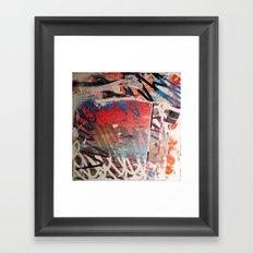ORANGE SCRIBBLE Framed Art Print
