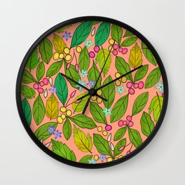 Beans and Leaves Wall Clock