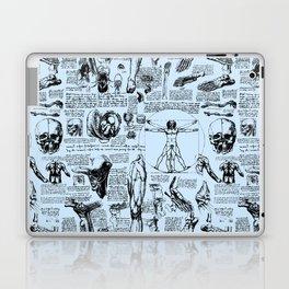 Da Vinci's Anatomy Sketchbook // Light Blue Laptop & iPad Skin